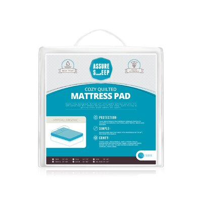 Assure Sleep Circle Quilted Waterproof Mattress Pad by LaCozee