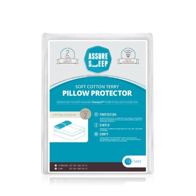 Assure Sleep Cotton Terry Waterproof Pillow Protector by LaCozee