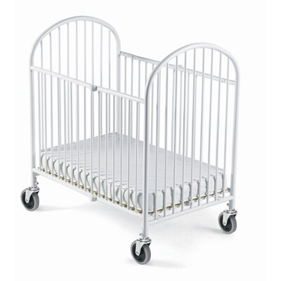 Pinnacle Folding Compact Convertible Crib with Mattress by Foundations