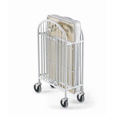 Foundations Pinnacle Folding Compact Convertible Crib with Mattress