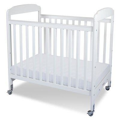 Foundations Serenity Compact Size Fixed Side Clearview Convertible Crib with Mattress