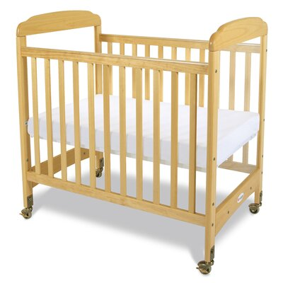 Serenity Compact Size Fixed Side Clearview Convertible Crib with Mattress by Foundations