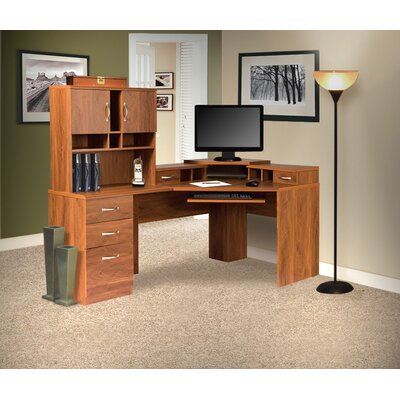 OS Home & Office Furniture Office Adaptations Corner Computer Desk with Monitor Platform