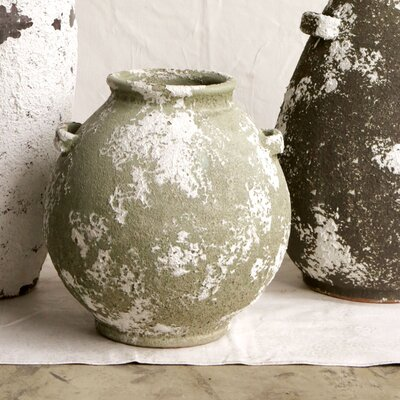 Morocco Round Terra Cotta Vessel Vase by Creative Co-Op