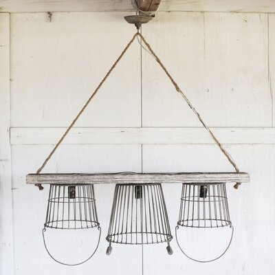 Casual Country 3 Light Kitchen Island Pendant Product Photo