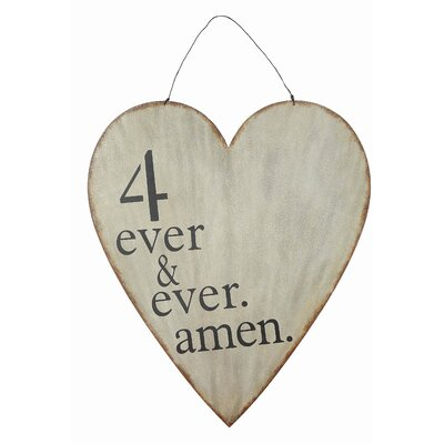 Cottage 4 Ever & Ever Amen Heart Wall Decor by Creative Co-Op