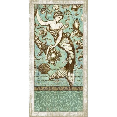 Drift Mermaid 2 Wall Art by Suzanne Nicoll Graphic Art Plaque by Vintage Signs