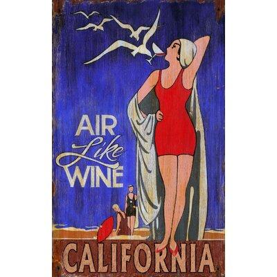 Vintage Signs Air Like Wine Vintage Advertisement Plaque