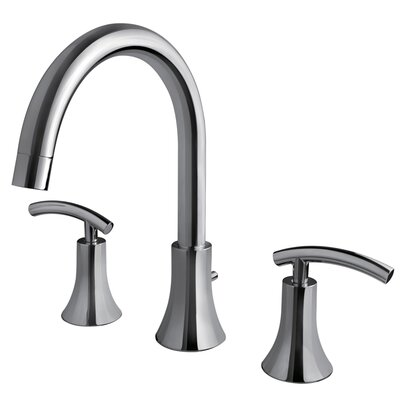 Contemporary Two Handle Deck Mount Roman Tub Faucet Product Photo
