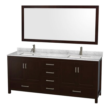 "Sheffield 80"" Double Bathroom Vanity Set with Mirror Product Photo"