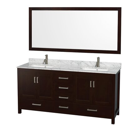 "Sheffield 72"" Double Bathroom Vanity Set with Mirror Product Photo"