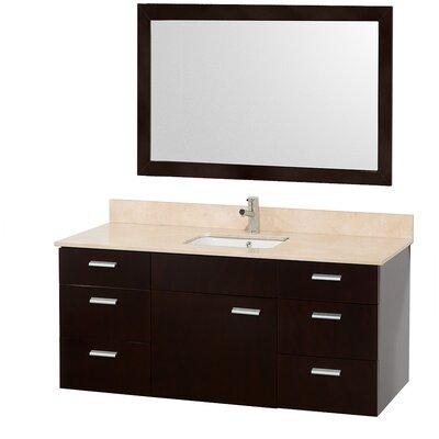 """Wyndham Collection Encore 52"""" Single Bathroom Vanity Set with Mirror"""