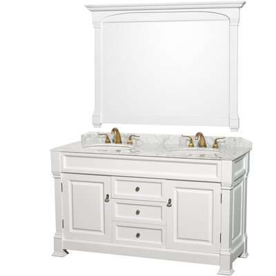 "Andover 60"" Double Bathroom Vanity Set with Mirror Product Photo"