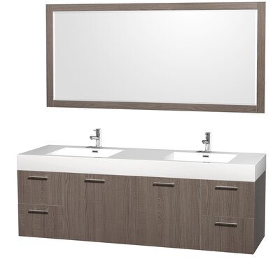"Amare 72"" Double Bathroom Vanity Set with Mirror Product Photo"