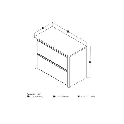 Bestar Connexion 2-Drawer  File