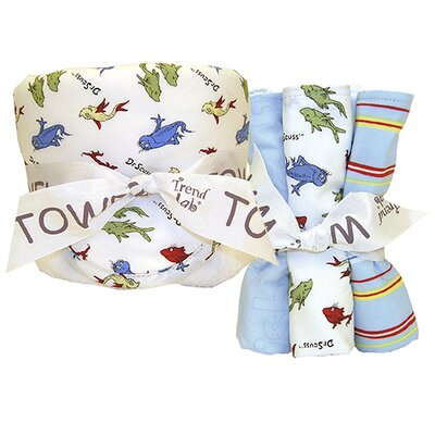 Dr. Seuss One Fish Two Fish Bouquet Hooded 6 Piece Towel Set by Trend Lab ...