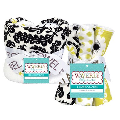 Waverly Rise and Shine Bouquet Hooded 6 Piece Towel Set by Trend Lab