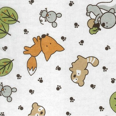 Trend Lab Forest Animal Print Crib Sheet Amp Reviews Wayfair