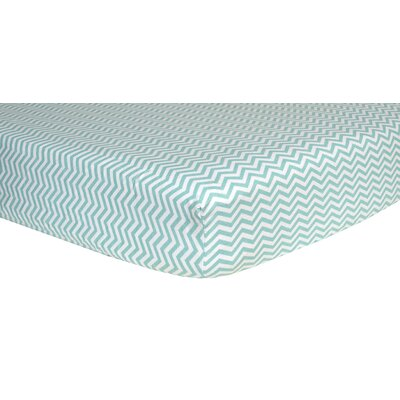 Trend Lab Chevron Print Flannel Crib Fitted Sheet