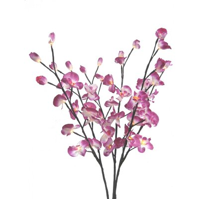 """Creative Motion Orchid Flower Light 39"""" H Table Lamp"""