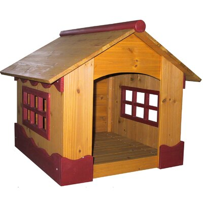 the Ice Cream Dog House is a simple and attractive way to give your dog all the space he needs. This fun and trendy-looking house with burgundy wood trim offers your dog a sense of security,