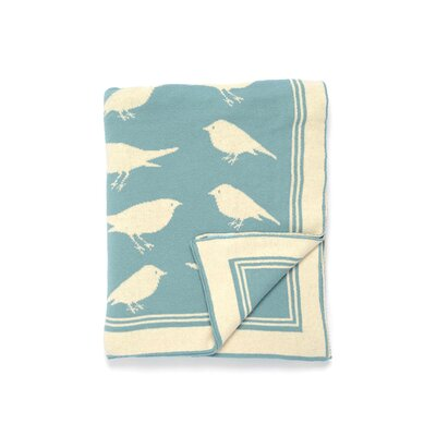 Bird Cotton Throw by Darzzi