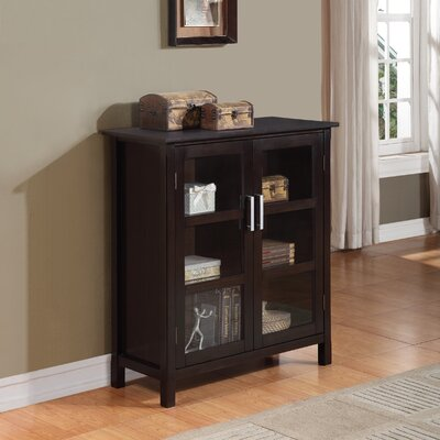 Simpli Home Kitchener Medium Storage Cabinet Reviews Wayfair