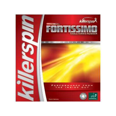 """Killerspin Fortissimo High Tension 0.08"""" Table Tennis Rubber in Red"""