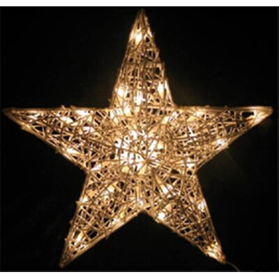 Spun Acrylic Star Christmas Decoration by LB International