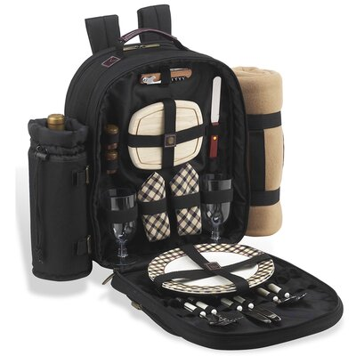 Picnic At Ascot London Backpack with Blanket & Place Settings