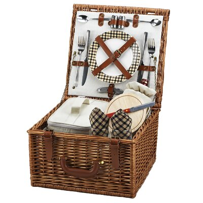 Picnic At Ascot Cheshire Basket for Two in Plaid