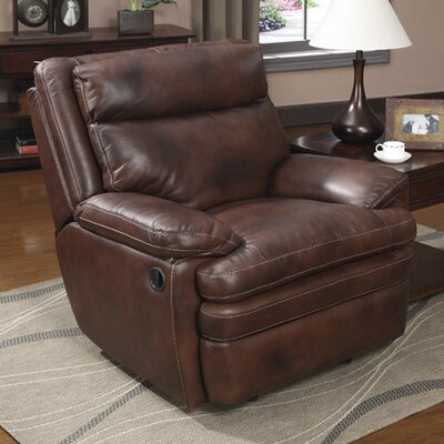 Clarkston Leather Rocker Recliner by At Home Designs