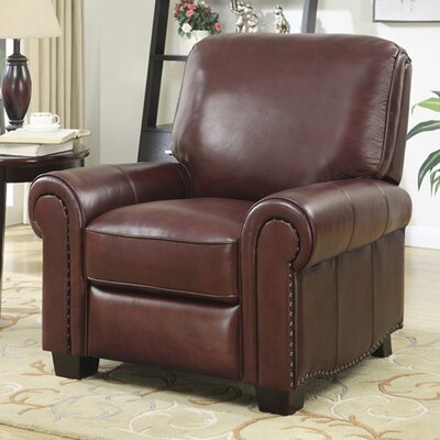 Tisdale Leather Recliner by At Home Designs