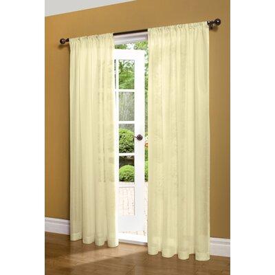 Weathershield Insulated Rod Pocket Single Curtain Panel Product Photo