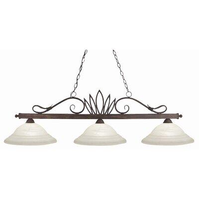 Crown 3 Light Pool Table Light by Z-Lite