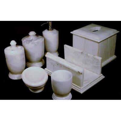 Nature Home Decor Series 300 in White Z Marble 7 Piece Bath Set