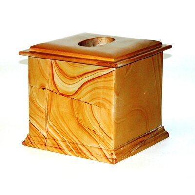 Series 300 in Teakwood Marble Tissue Holder by Nature Home Decor