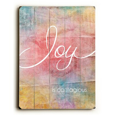 Joy is Contagious Wood sign by Artehouse LLC