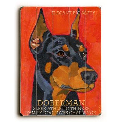 Doberman Wood Sign by Artehouse LLC