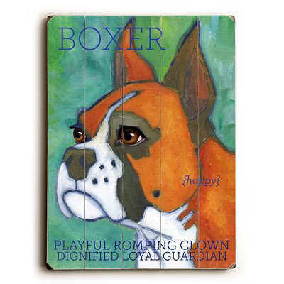 Boxer Wood Sign by Artehouse LLC
