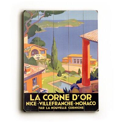 Artehouse LLC La Corne D'or Vintage Advertisement Plaque