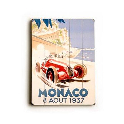 Artehouse LLC Monaco Vintage Advertisement Plaque