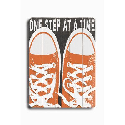 Artehouse LLC One Step at a Time Graphic Art Plaque