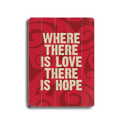 Artehouse LLC Where There is Love Textual Art Plaque