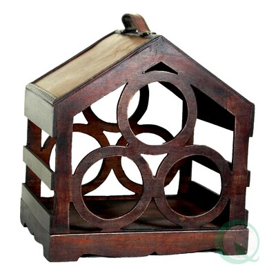 Bird House 3 Bottle Tabletop Wine Rack by Quickway Imports