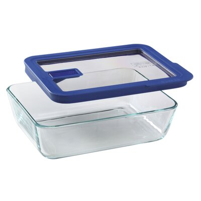 No Leak Lids 6-Cup Rectangular Storage Dish by Pyrex