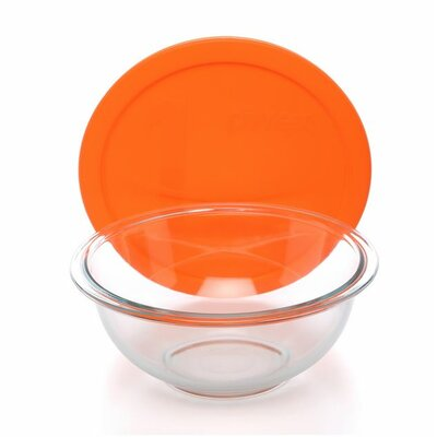 Pyrex Smart Essentials 4 Piece Mixing Bowl with Colored Lid Set