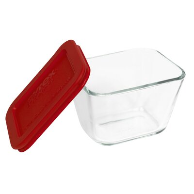 Storage Plus 1.87 Cup Rectangular Storage Dish with Lid by Pyrex