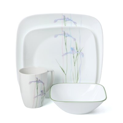 Impressions Shadow Iris Square 16 Piece Dinnerware Set by Corelle