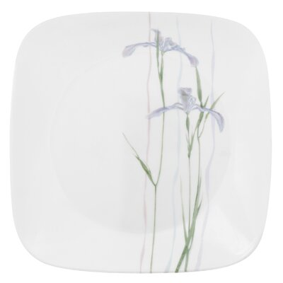 "Corelle Impressions Shadow Iris Square 9"" Plate"